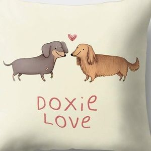 Other - Pillow Cover-New- Sweet Dachshund Dog- Doxie Love